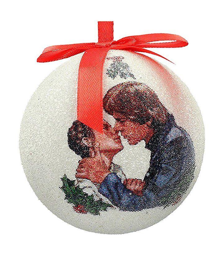 AuBergewohnlich STAR WARS Han Und Leia Weihnachtskugel, Weiß, 8 X 8 X 8   Weihnachtsdeko