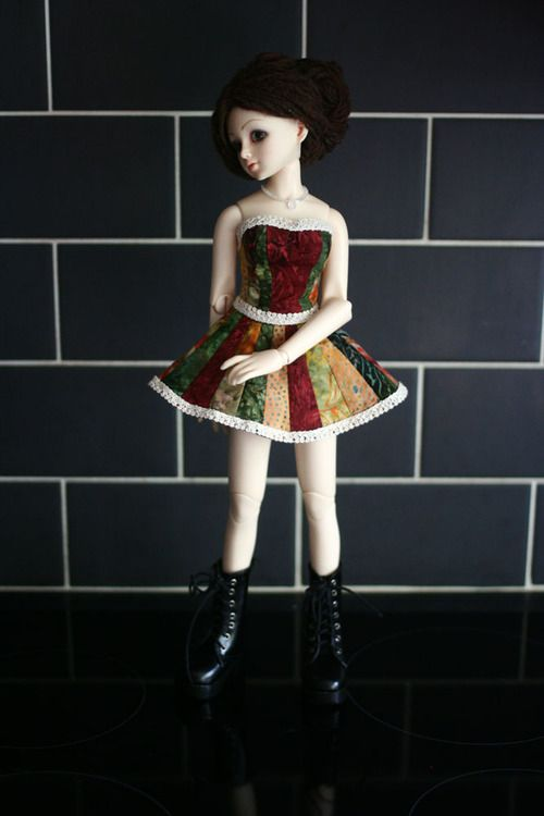 vampy's bjds - How to make a stripey dress