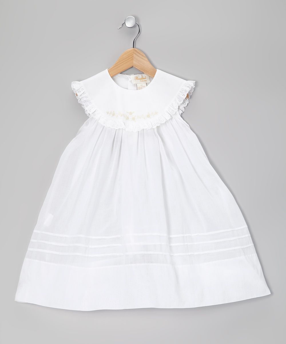Rosalina White Eyelet Lace Yoke Dress - Infant, Toddler & Girls ...