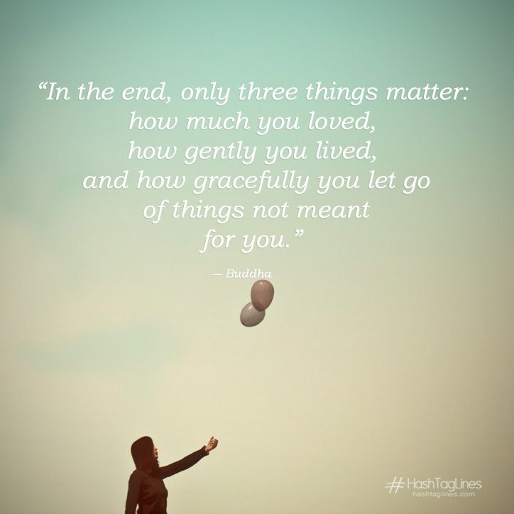 In The End Only Three Things Matter How Much You Loved Gautama