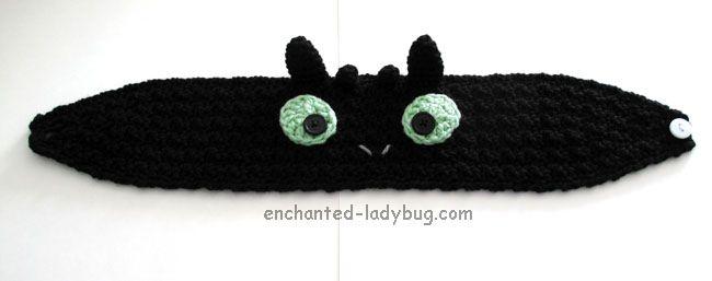 Free Crochet Toothless Dragon Ear Warmer Headband Pattern   Crochet ...