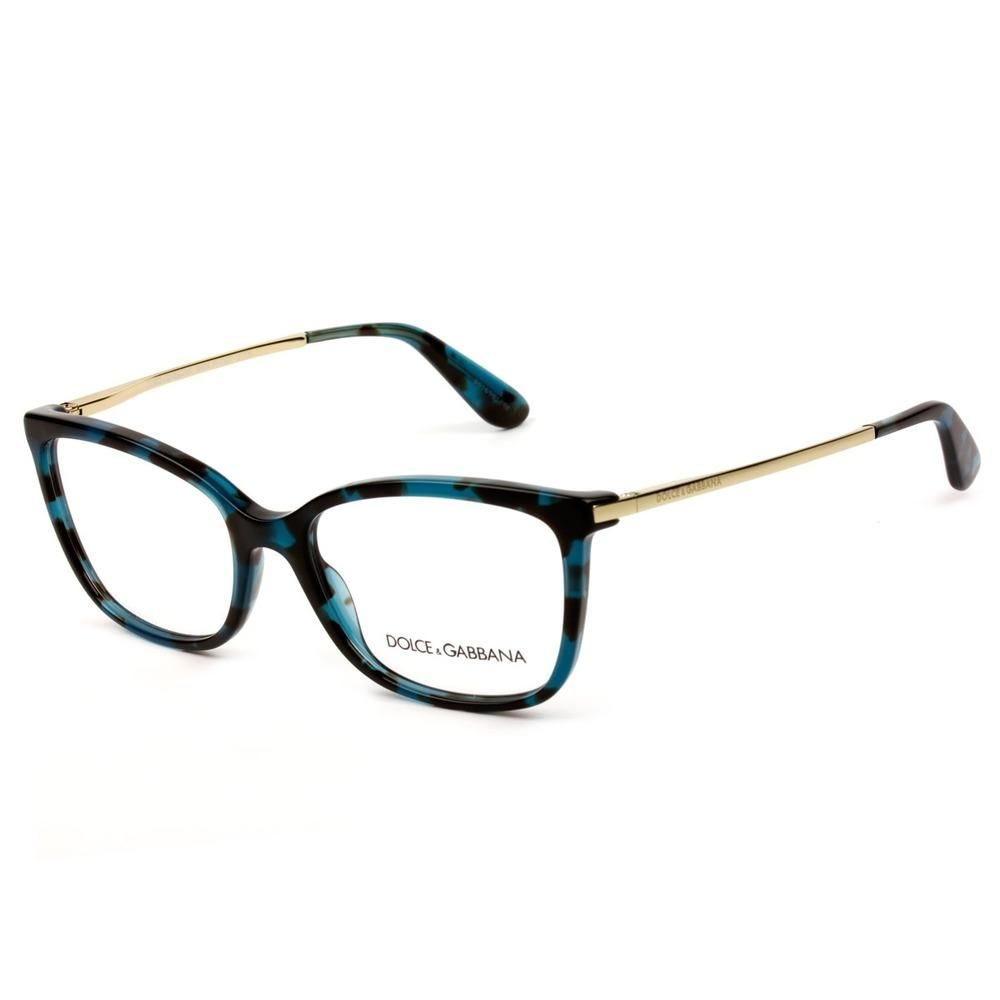 Dolce Gabbana Dg3243 2887 54 Azul Havana Dourado Dolce
