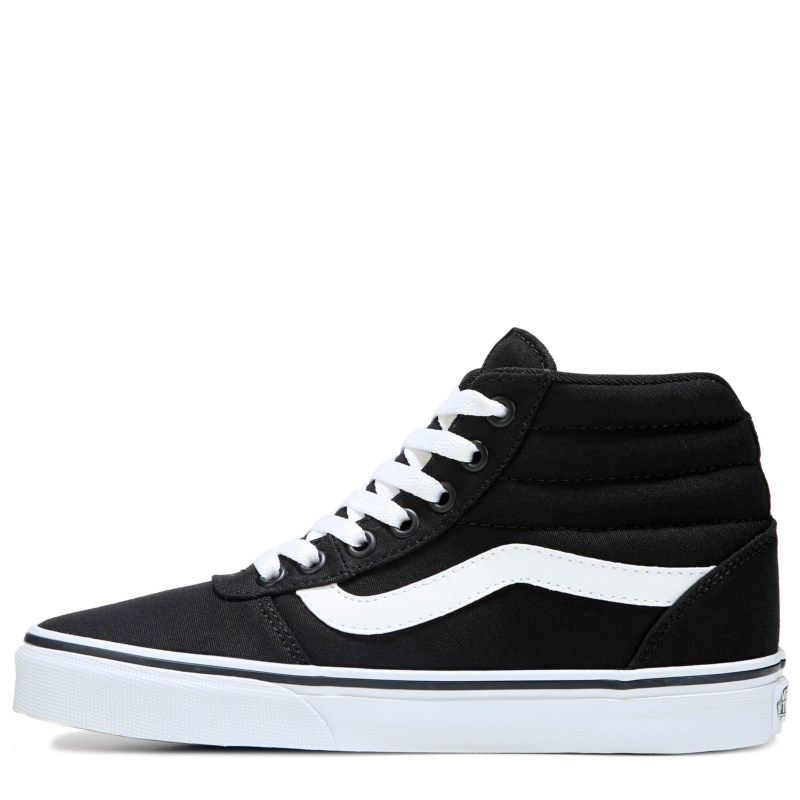 Vans Women s Ward High Top Sneakers (Black White) a71e40837