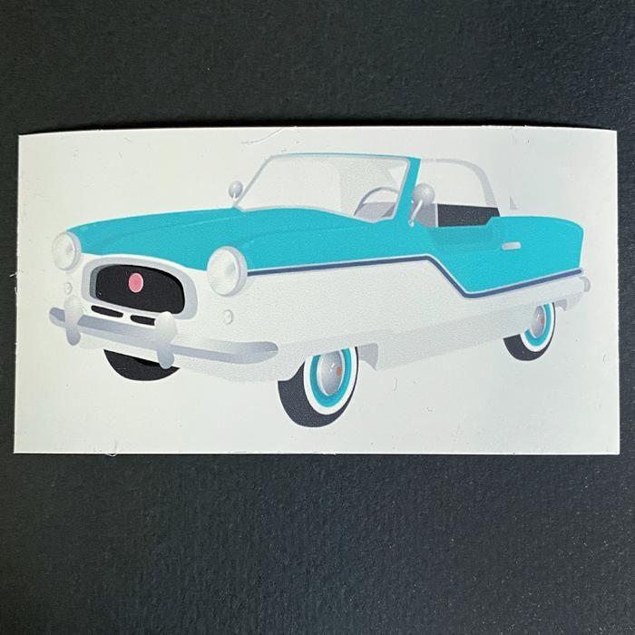Nash Metropolitan Turquoise Classic Car Kitchen Refrigerator Magnet