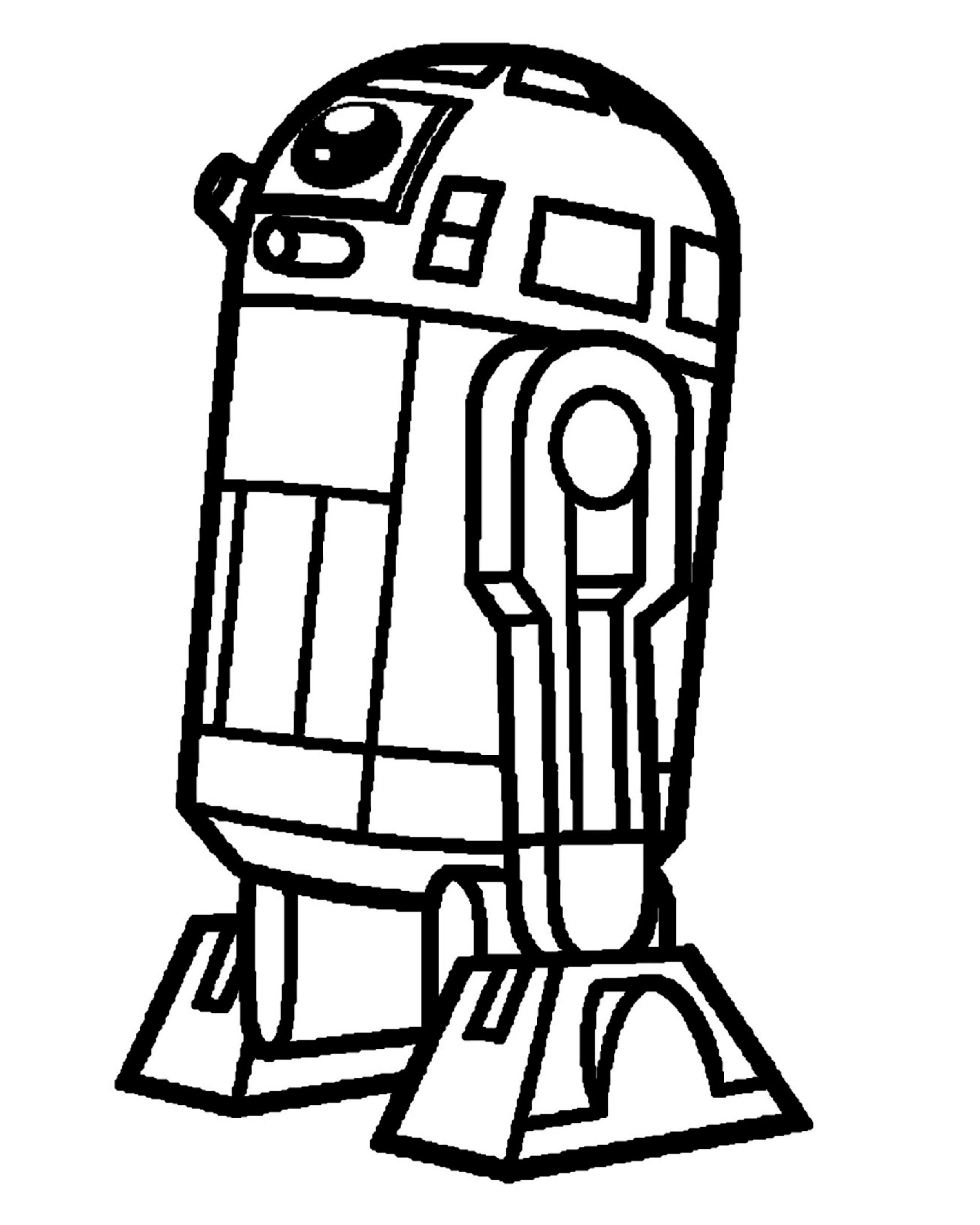 Star Wars Character Outlines : character, outlines, R2d2-outline.jpg, 2,400×3,000, Pixels, Characters, Drawings,