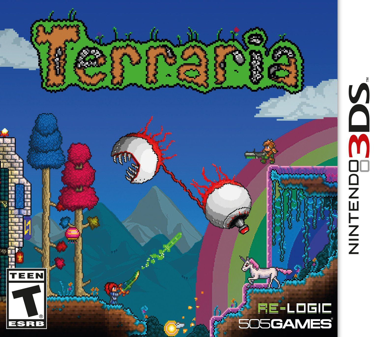 Terraria Nintendo 3DS Nintendo 3ds, Nintendo, Arcade games