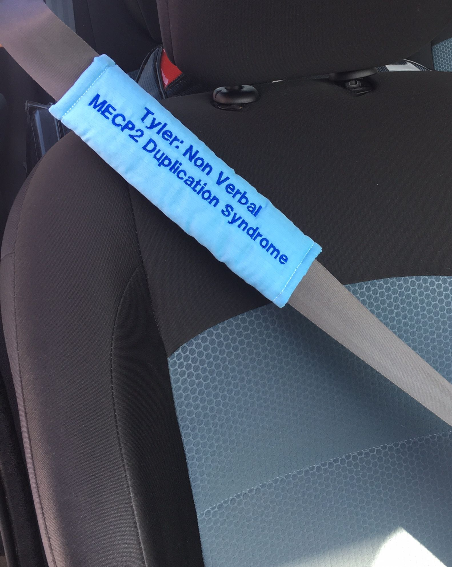 Medical Seat Belt Covers Great For Informing Paramedics