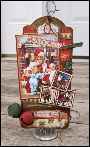 Love this Dec Place In Time Tag by Stacy Rodriguez using our Large Tag Staples! Gorgeous work! #graphic45 #tags