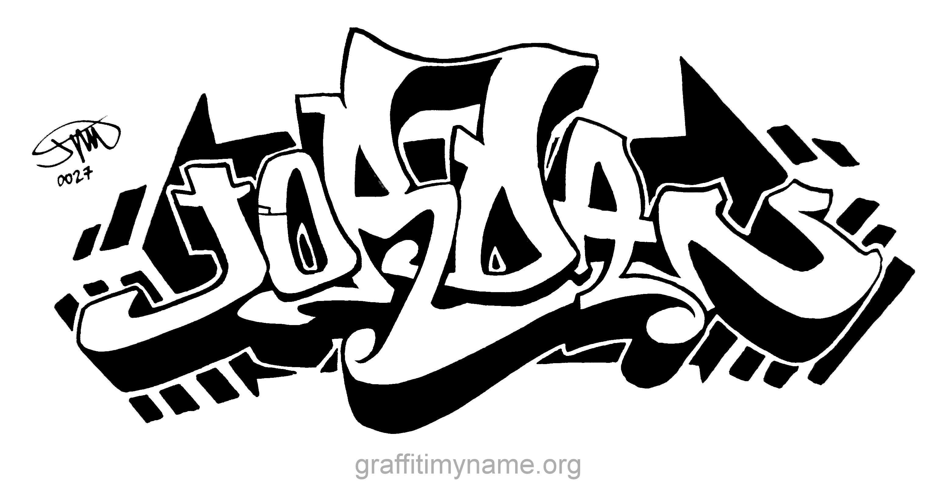 Jordan Hand Drawn Graffiti Style Graffiti Lettering Alphabet Easy Graffiti Letters Graffiti Text