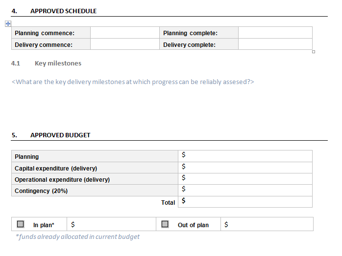Project Approval Form Download For Project Management Plan Templates