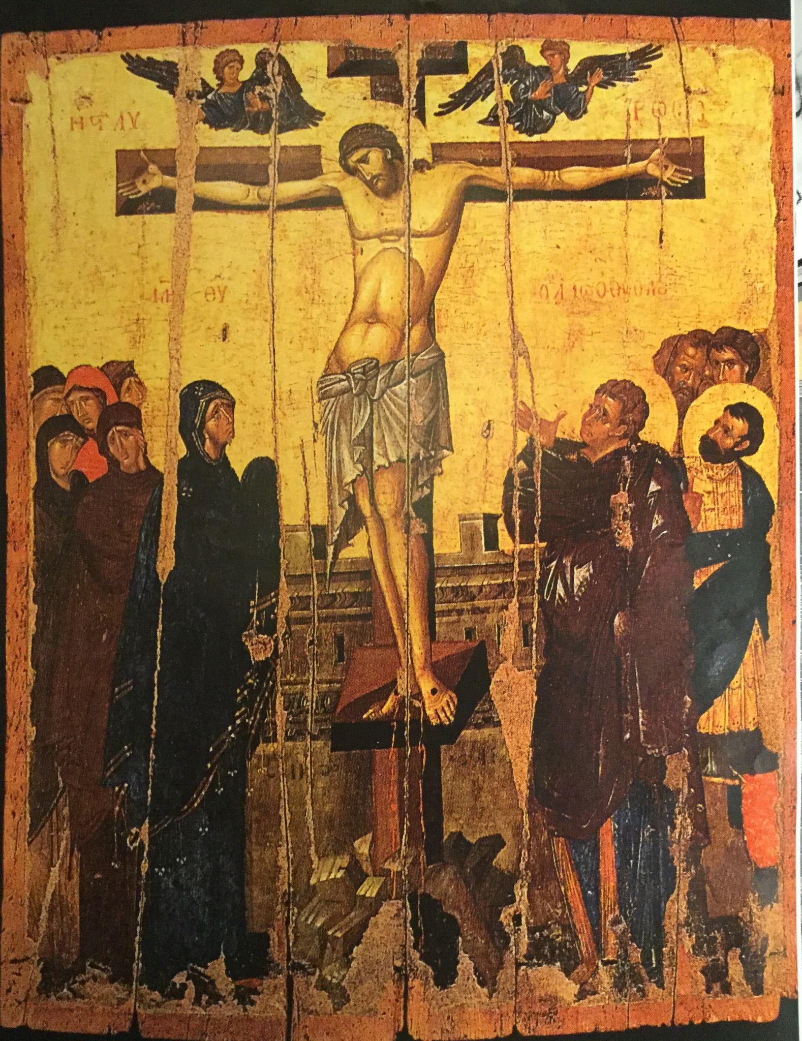 Crycifiction of Jesus, 12th century, Monemvasia-Peloponnese, Greece. Ι.Ν. Ελκομενου