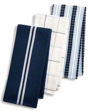 3 Pc Terry Cloth Kitchen Towels Created For Macy S