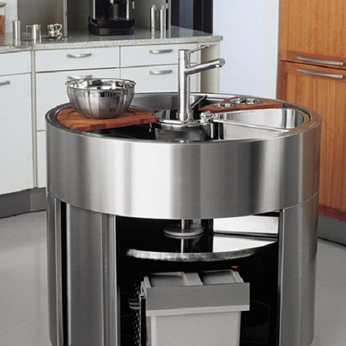 Round Kitchen Island waterstation round island kitchen sink the waterstation round