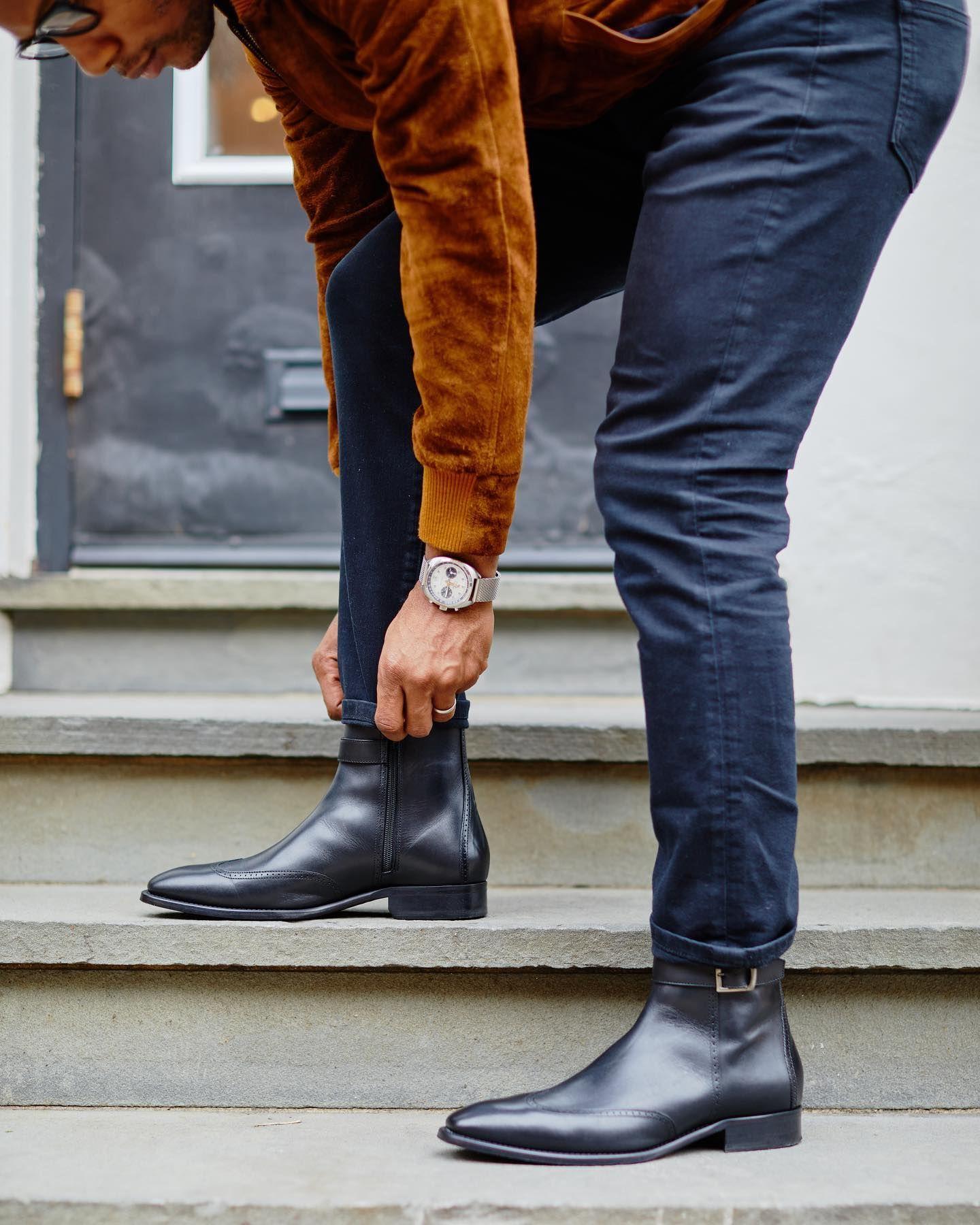 cormac buckle zip boot