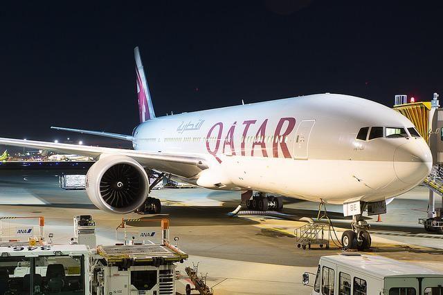 Night Flight - Qatar B777