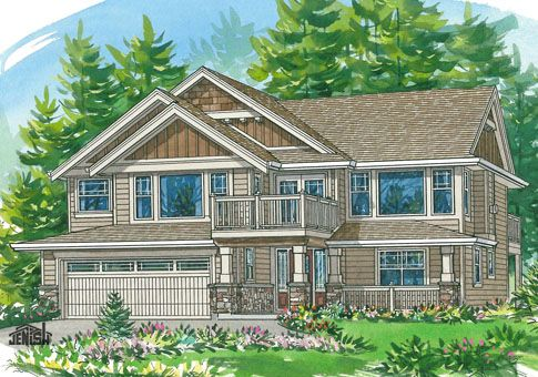 Could be modified to fit uphill sloped lot like the front for Uphill slope house plans