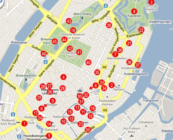 24 Hours in Copenhagen Tourist map Road trips and Wanderlust