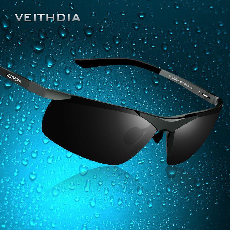 9684dbb3d14 Aluminum Magnesium Polarized Lens Mens Sunglasses Driver Mirror Sun ...
