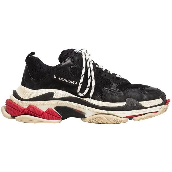 Balenciaga Triple S Sneaker Release Details The Source ❤ liked on Polyvore  featuring shoes, sneakers