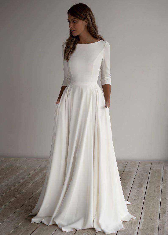 Bescheidene Brautkleider
