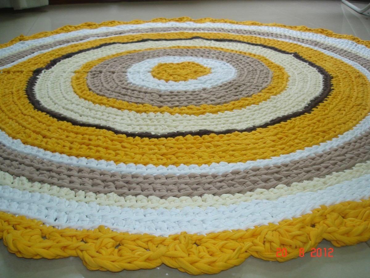 Alfombra de totora tejida al crochet mundo amanda for Mundo alfombra