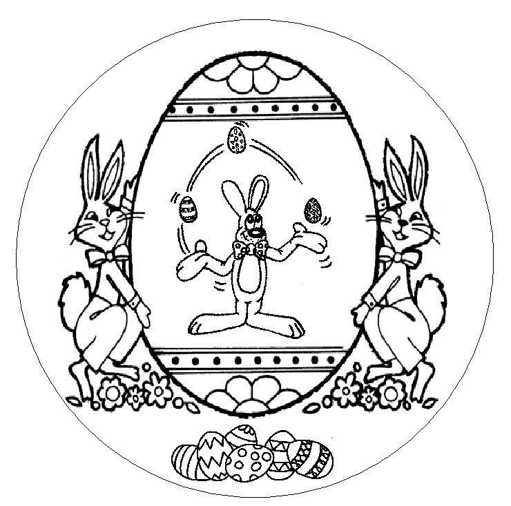Mandalas a colorier mandala oeuf lapins - Mandala lapin ...