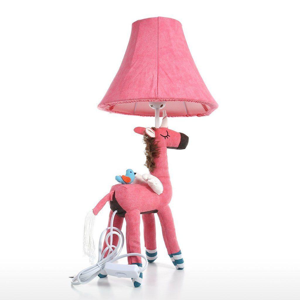 Pink Unicorn Bedside Table Lamp Girls Night Light By Nursery