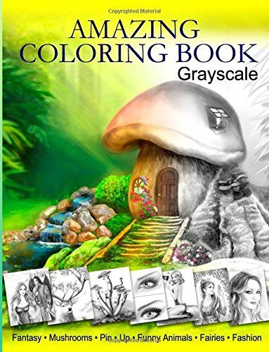 Amazing Coloring Book. Grayscale: For Grown-Ups, Adult Re...