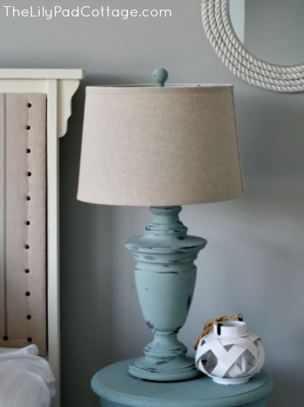 Chalk Painted Lamp And A Giveaway The Lilypad Cottage Diy Lamp