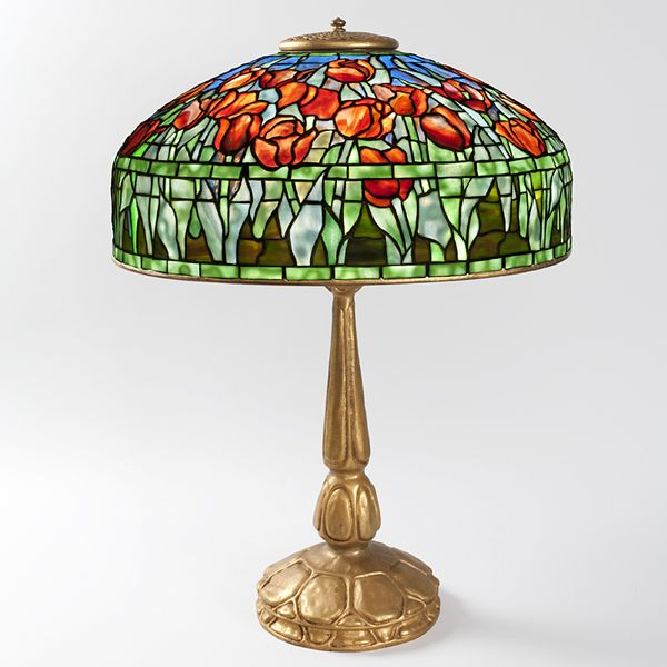 A Tiffany Studios New York Quot Tulip Quot Table Lamp The Shade