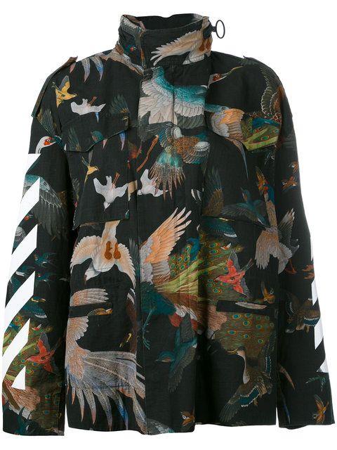 c34974de80852 Shop Off-White Birds Diagonal jacket.   Things to wear 3   Off white ...