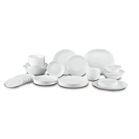 Corelle Livingware 74 Piece Dinnerware Set with Storage Lids Service for 12 White  sc 1 st  Pinterest & Corelle Livingware 74 Piece Dinnerware Set with Storage Lids ...
