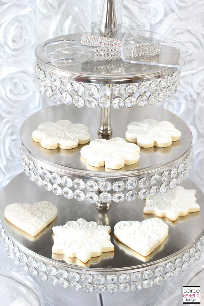 ad72dcdf18e Winter White Bridal Shower Sweets Table - The All White Color Trend ...