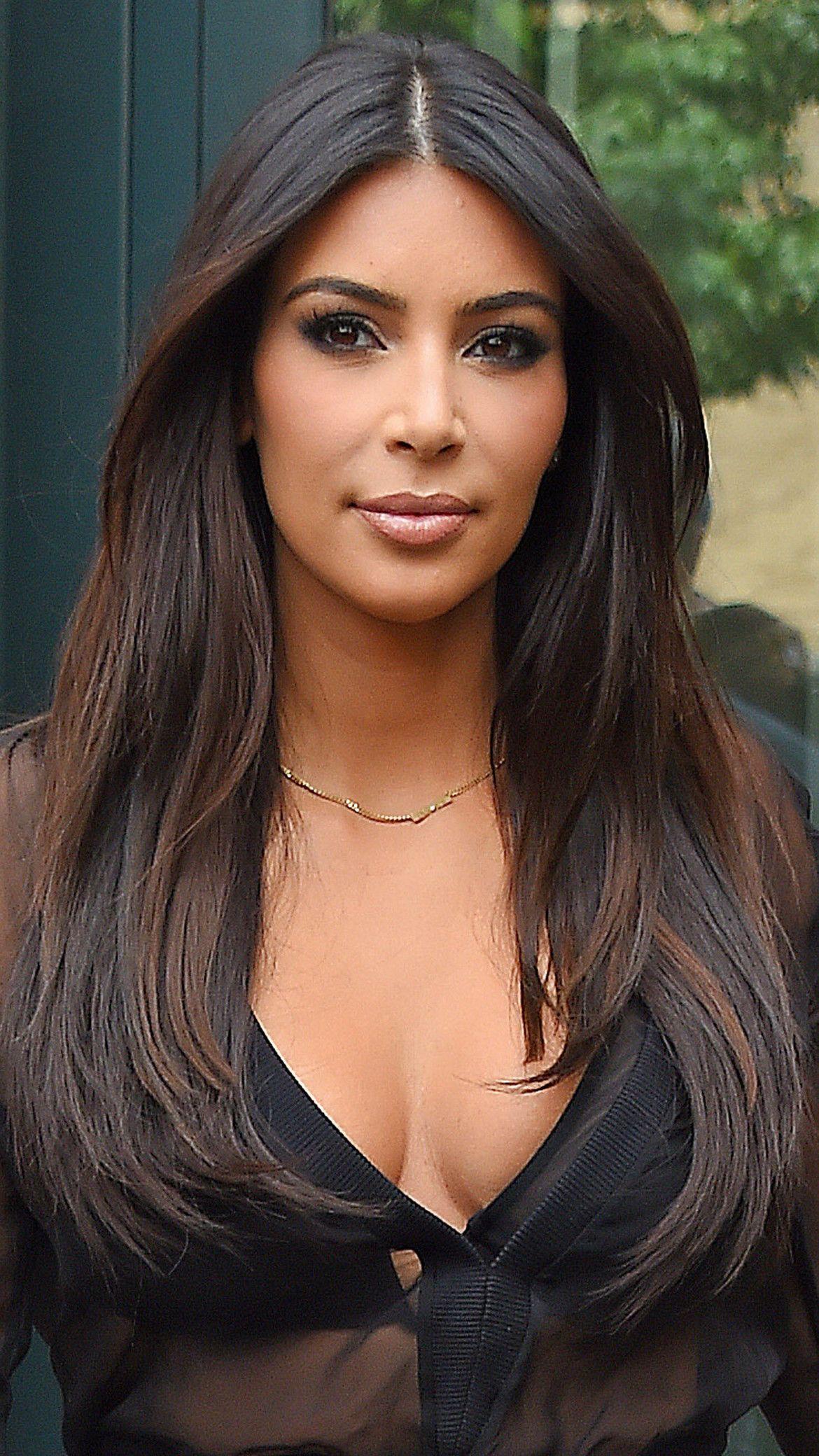 kim kardashian cut hair