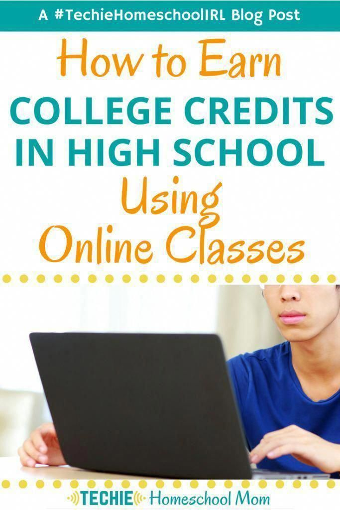 How to Earn College Credits in High School using Online Classes #onlineclasses