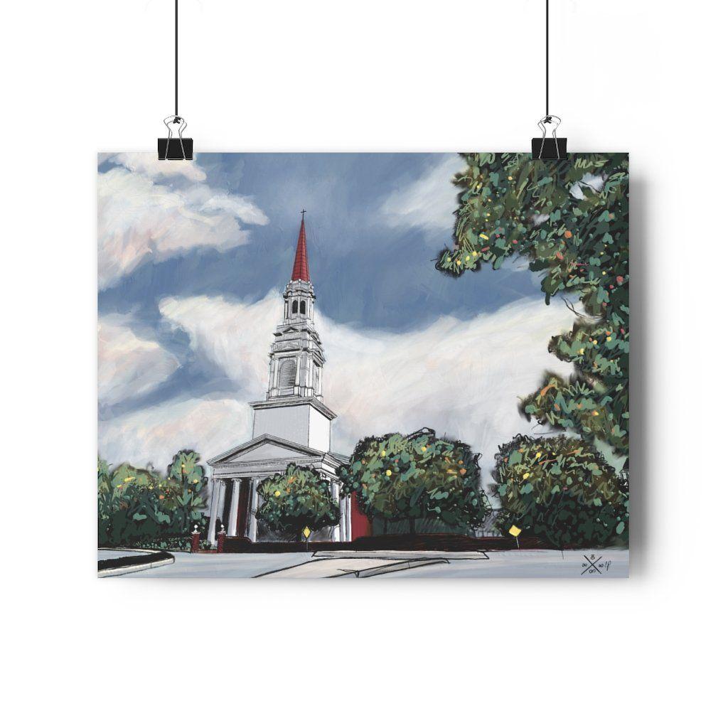 The Church at Wieuca Giclée Art Print - 20\ x 16\ / Matt