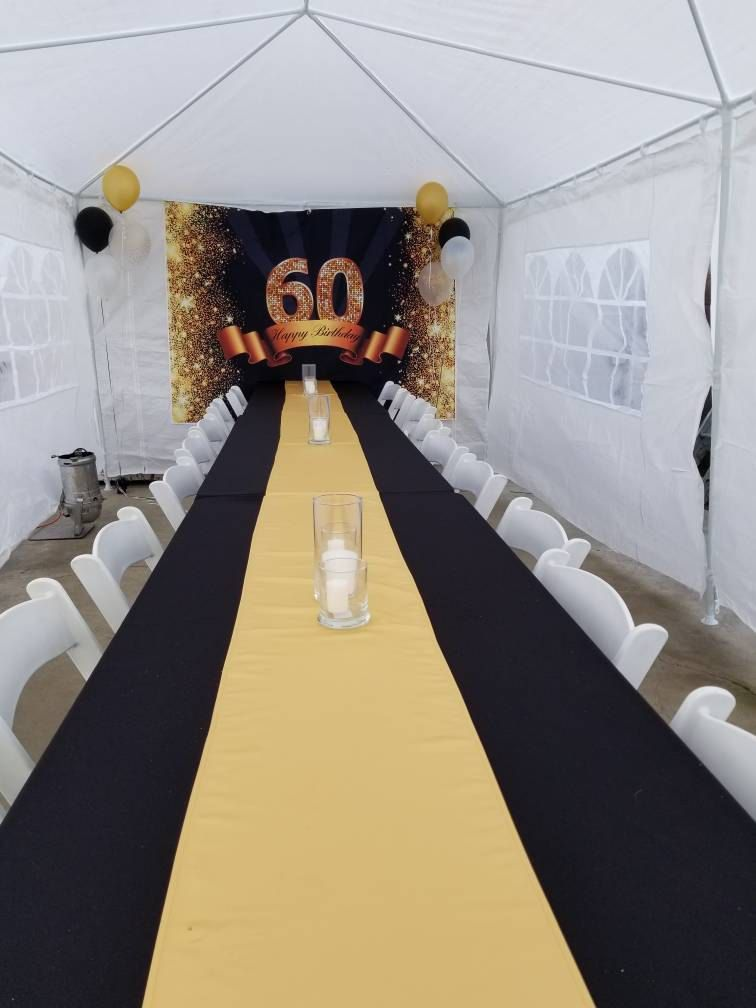 Custom Happy 50th Birthday Backdrop Party Banner Glitter Gold and Black Background for Photography Studio Photo Booth Prop #backdropsforphotographs
