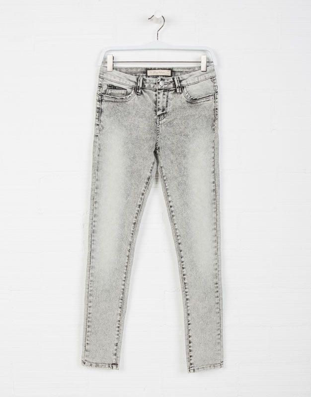 bb02a352e05f2 CALÇAS DE GANGA PUSH-UP PORMENOR PU - Jeans - COLEÇÃO - WOMEN -