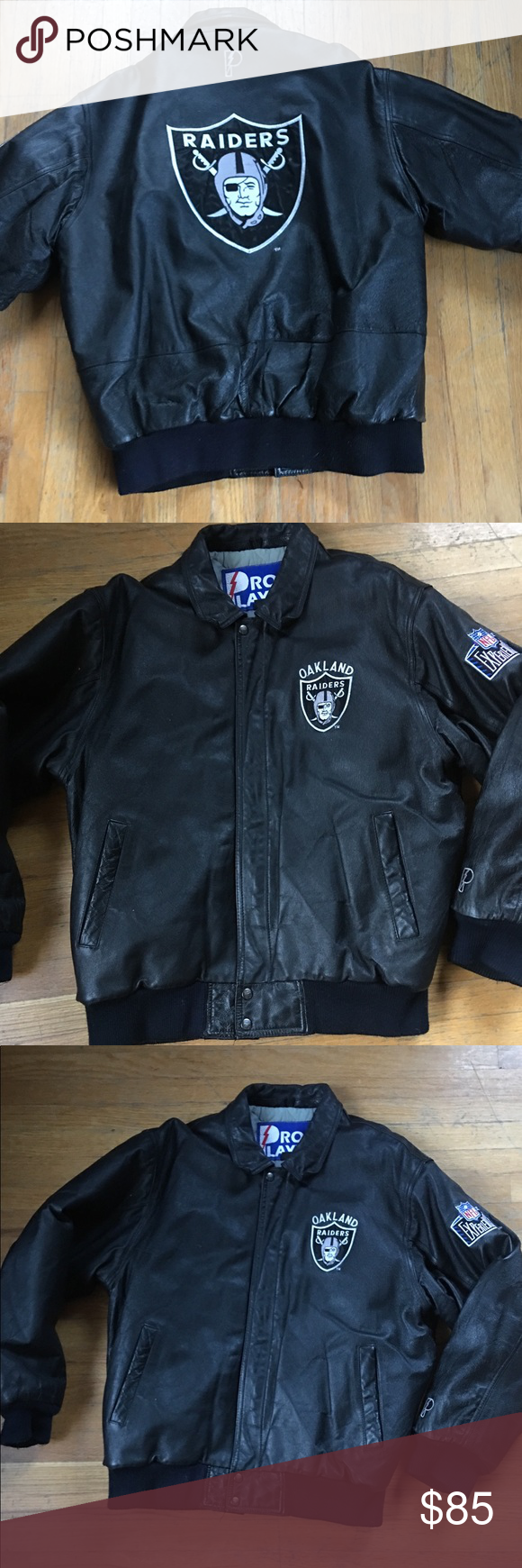 Vintage Pro Player Leather Raiders Bomber Jacket Bomber Jacket Vintage Jackets Bomber Jacket [ 1740 x 580 Pixel ]