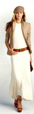 RL jacket over long dress