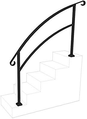 Best Instantrail 5 Step Adjustable Handrail Black Amazon 400 x 300