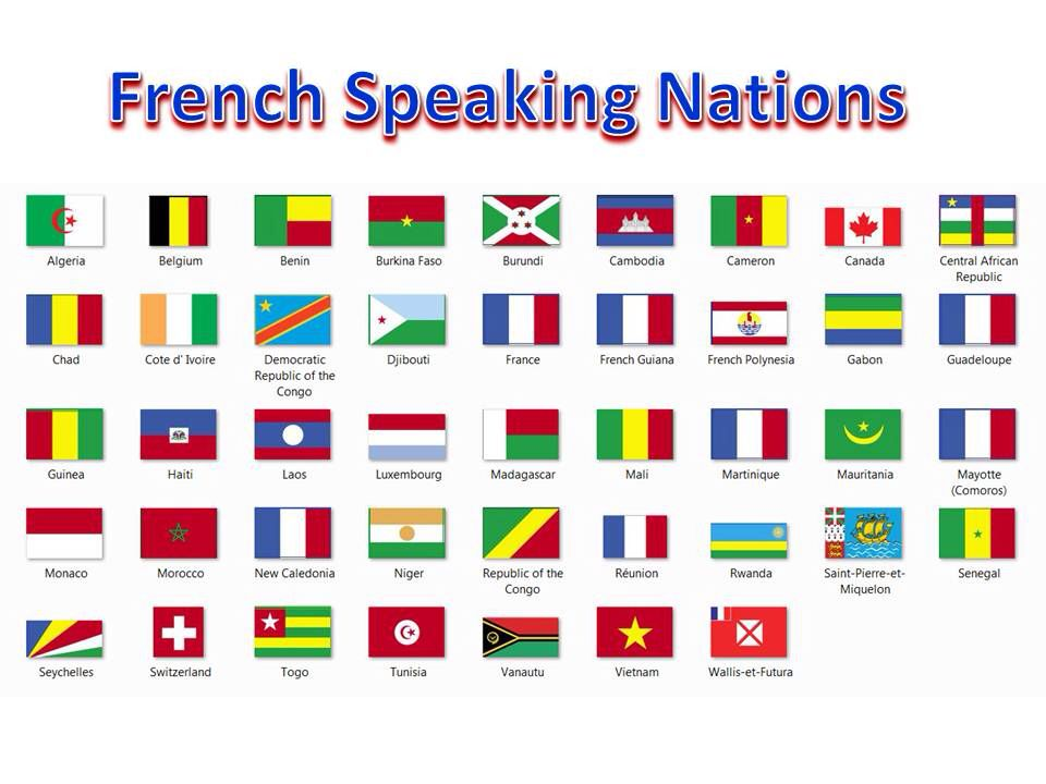 French speaking nations. Maybe rather than moving to France I could maybe go to Switzerland or Canada?