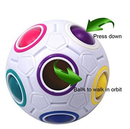 Magic Speed Cube Rainbow Ball Puzzle Brain Teasers Educational Toys