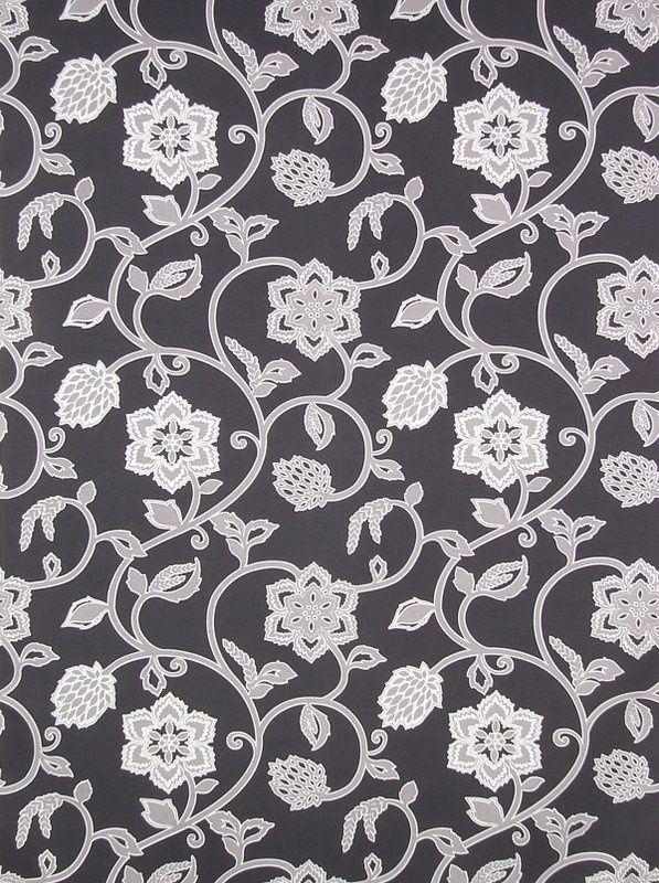 Georgia Ebony 19112 107 James Dunlop Textiles Upholstery Drapery Wallpaper Fabrics Floral Curtains Fabric Outdoor Fabric