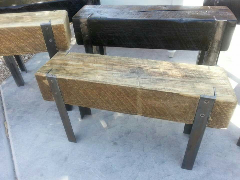 Upcycled Wooden Benches Using Reclaimed Wood And Angle