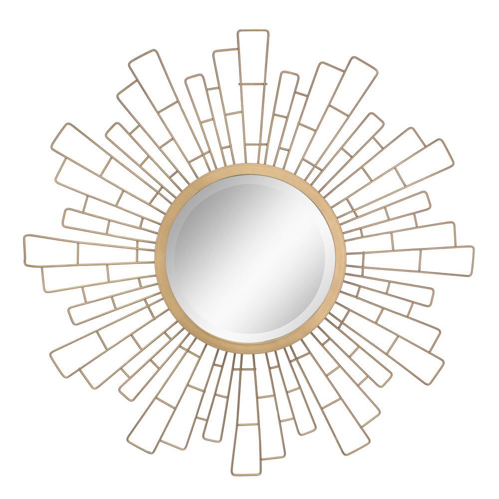 Stonebriar Collection Geometric Sunburst Gold Decorative Wall Mirror Sb 6140a In 2020