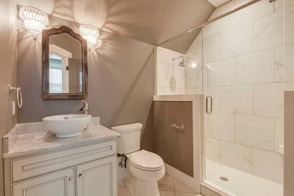bonus bath is homecrest cabinetry eastport maple with french vanilla paint and smoke glaze designed by kitchen sales knoxville tn