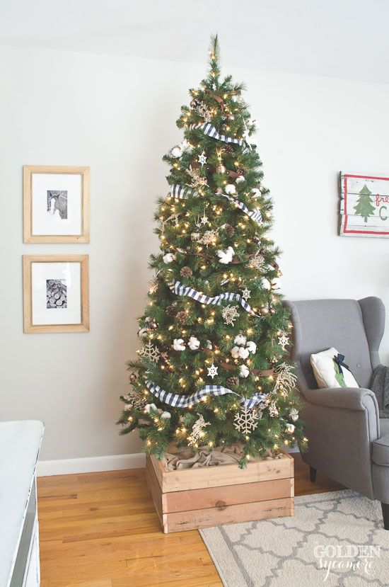 2014 Christmas Home Tour Christmas Tree Stand Cover Christmas