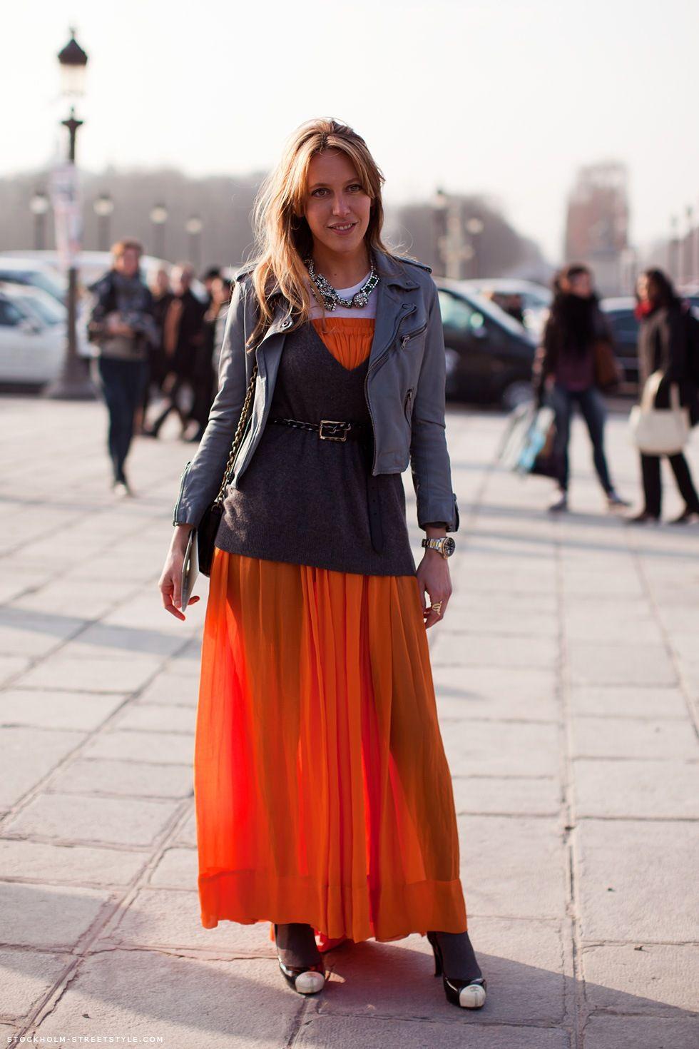 Carolines Mode Stockholmstreetstyle Fashion Sweater Over Dress Maxi Skirt Dress [ 1470 x 980 Pixel ]