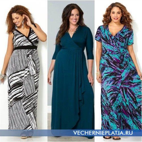 84df17dd8232233 Платья для полных длинные с запахом | Мода + | Платья, Мода для ...